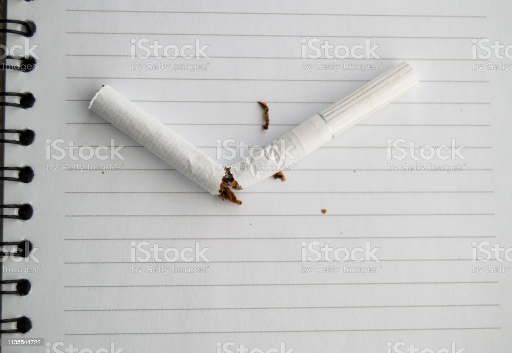 World No Tobacco Day No Smoking Day Broken Cigarette On Business