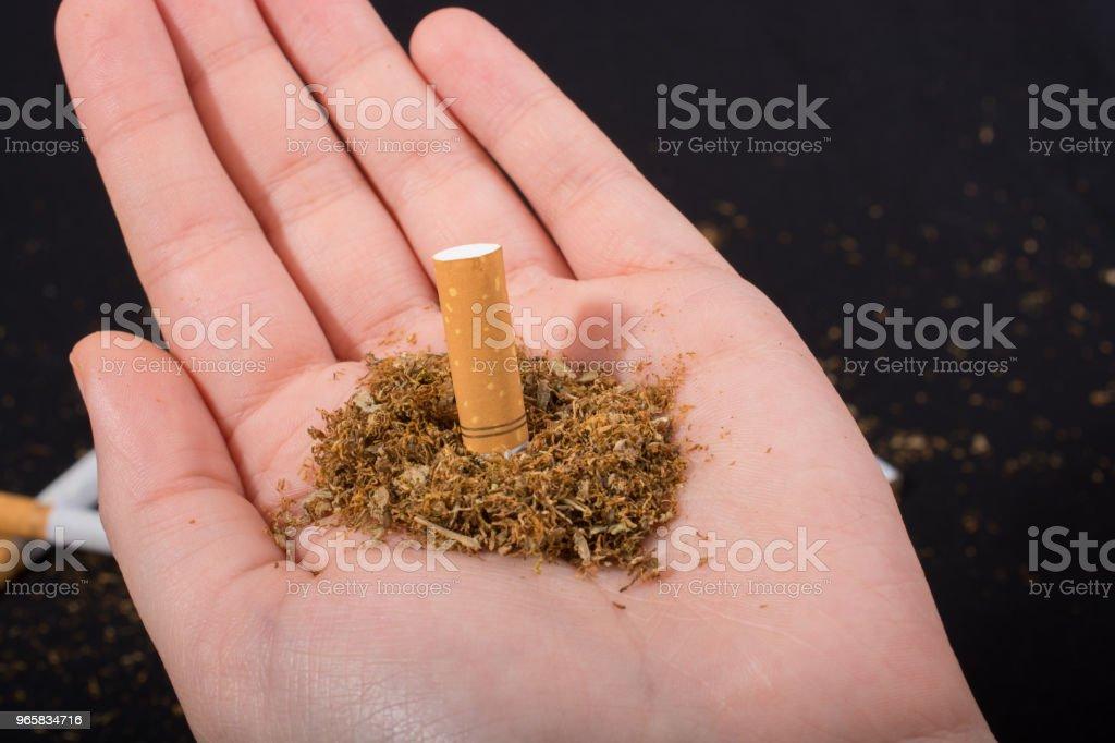 World No Tobacco Day poster for say no smoking concept - Royalty-free Addiction Stock Photo