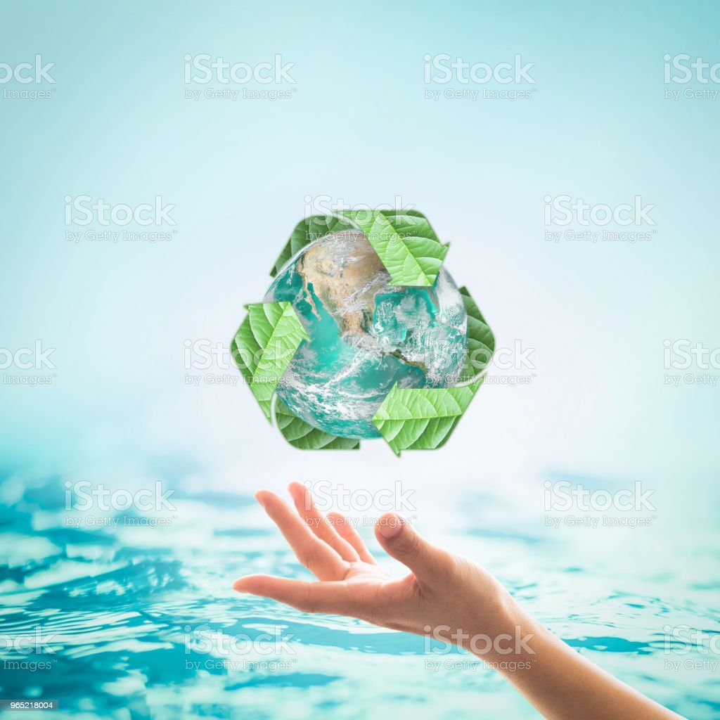 World ocean day, saving water campaign concept: Element of this image furnished by NASA royalty-free stock photo