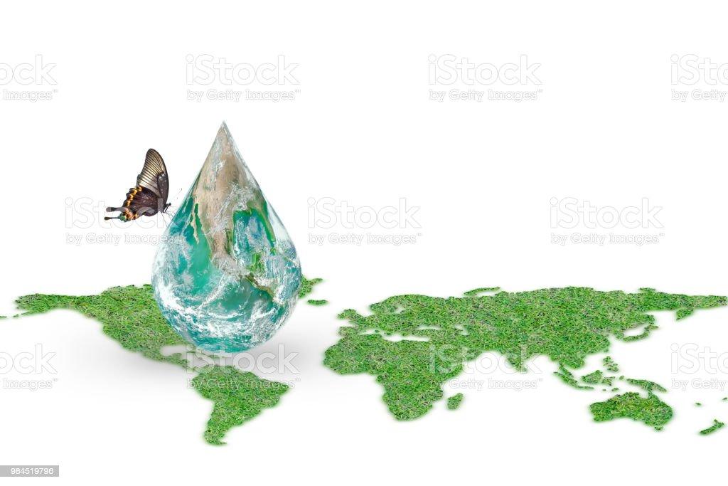 Dia Mundial do oceano, salvando o conceito de campanha de água  elemento da  imagem 7981309c94