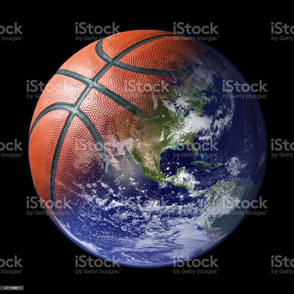 world of basketball stock photo