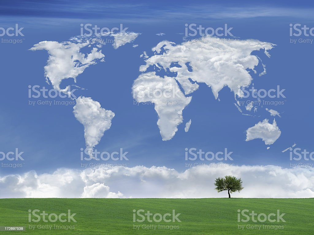 World of Clouds 3 royalty-free stock photo