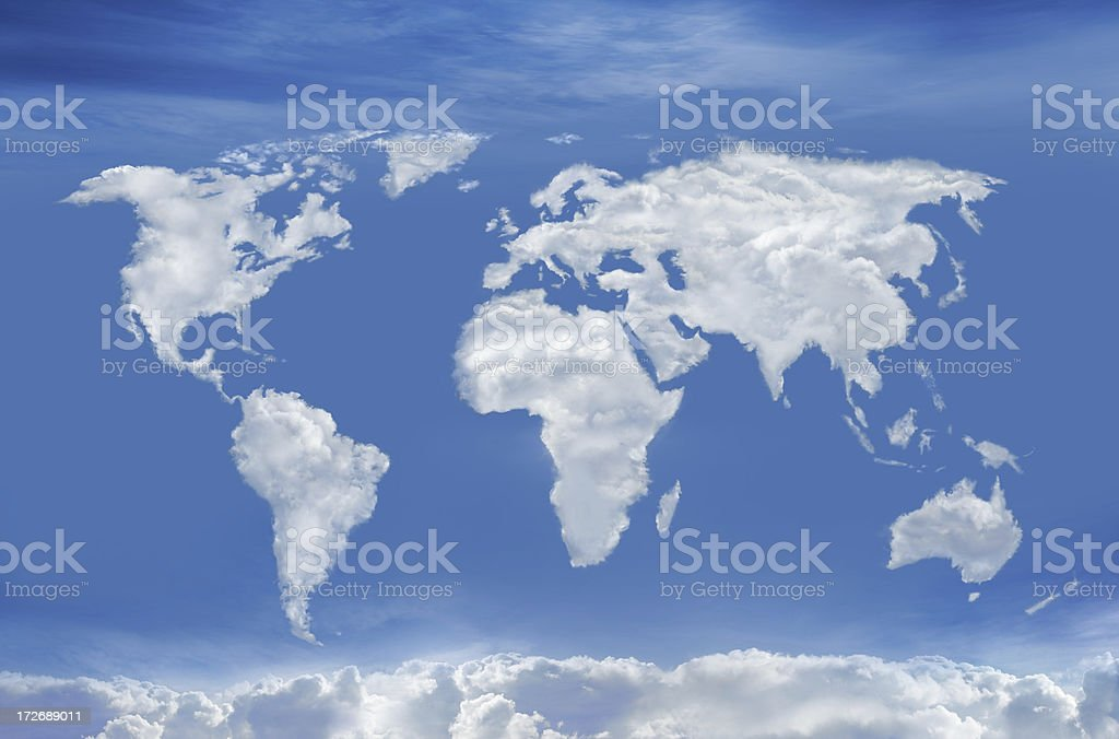 World of Clouds stock photo