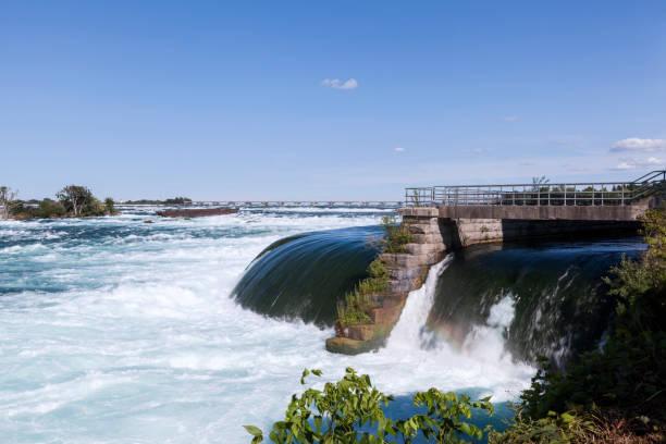 World of wonder Niagara Falls view from the Canada border stock photo