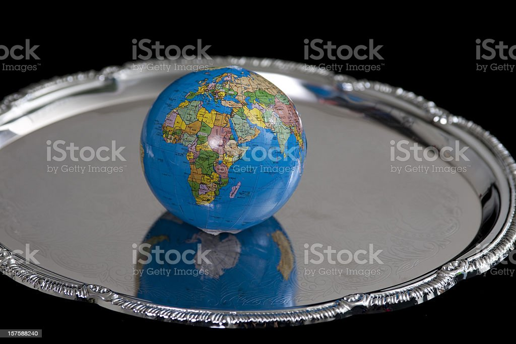 world on a platter Eastern Hemisphere royalty-free stock photo