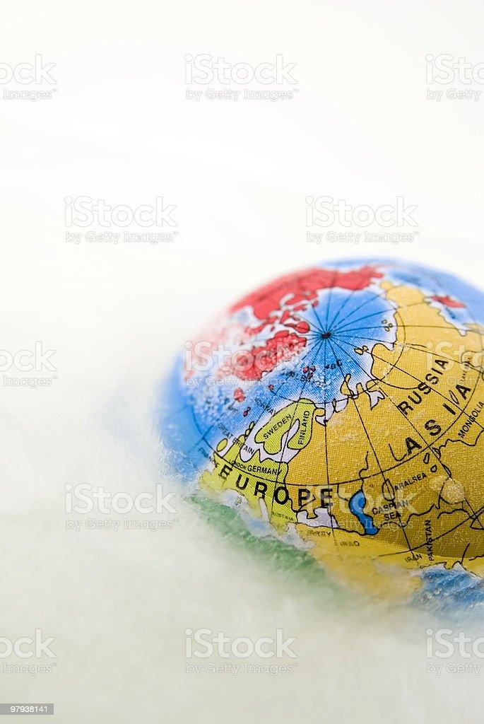 world on ice stock photo