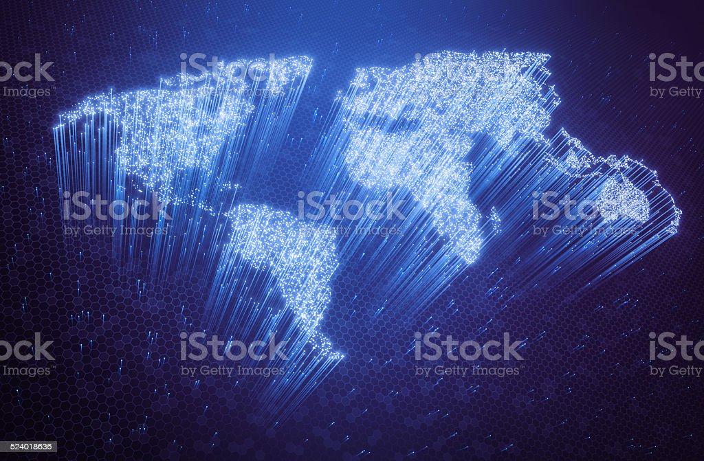 World Optical Fiber stock photo