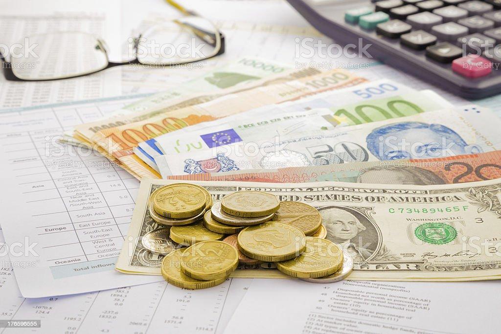 World paper money royalty-free stock photo