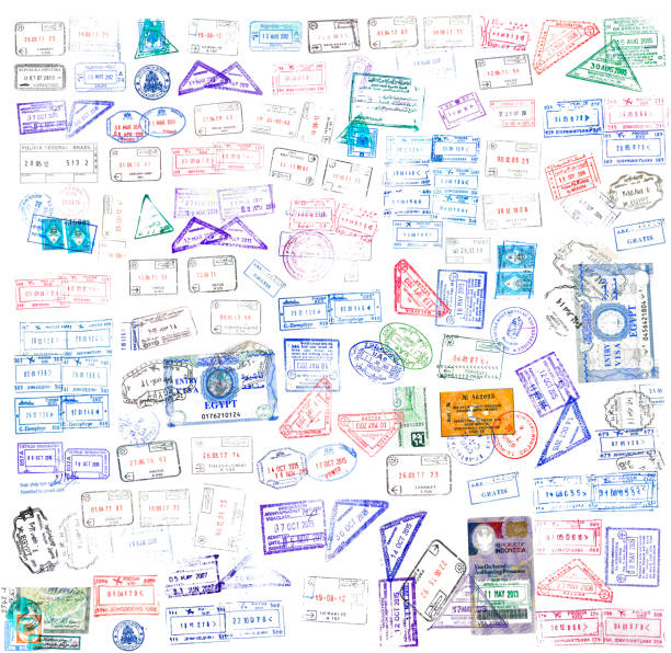 World passport stamps isolated on white World passport stamps isolated on white pasport malaysia stock pictures, royalty-free photos & images