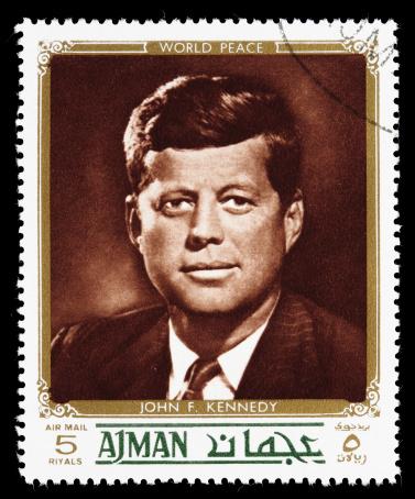 Sacramento, California, USA - December 24, 2008: A 1972 Ajman postage stamp in the \