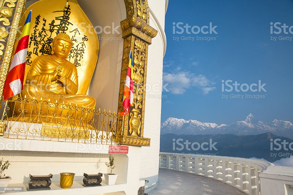 World Peace Pagoda stock photo