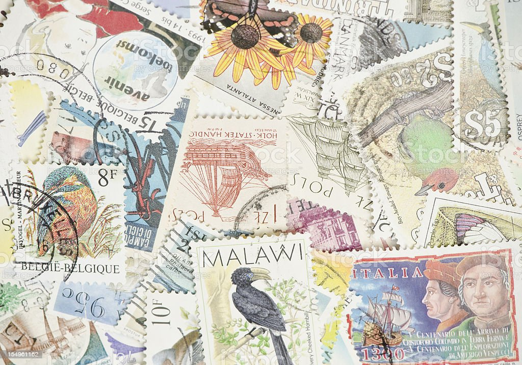 World Postage Stamps royalty-free stock photo