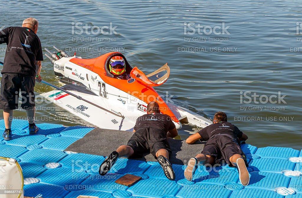 World Powerboat Championship . Robert Hencz, photo libre de droits