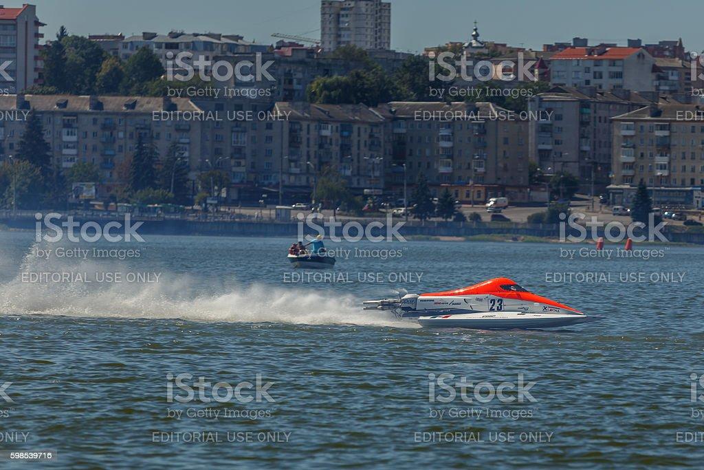 World Powerboat Championship . Robert Hencz, powerboat photo libre de droits