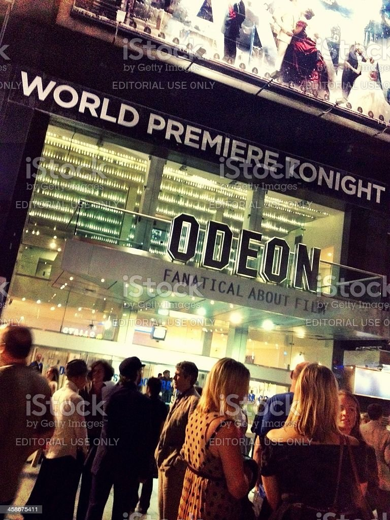 World Premiere, Leicester Square Odeon, London stock photo