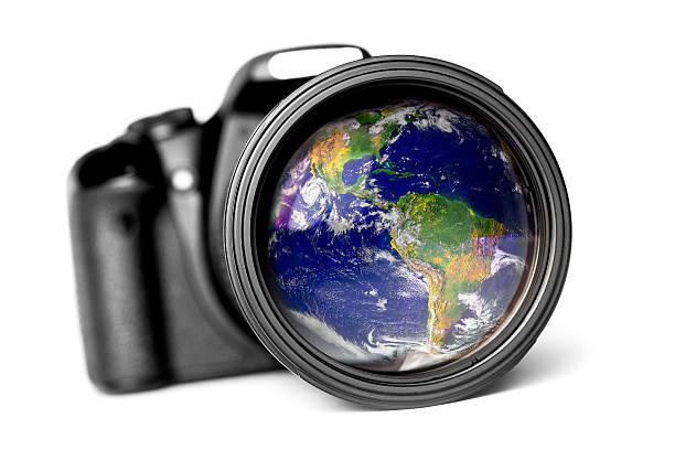 World Reflexion in einem Gläser – Foto