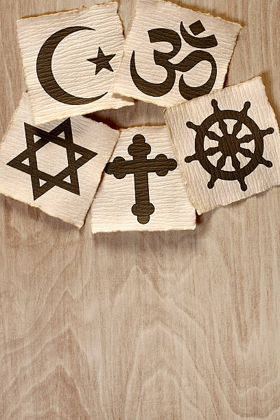 World religions Symbols of the different world religions. religious symbol stock pictures, royalty-free photos & images