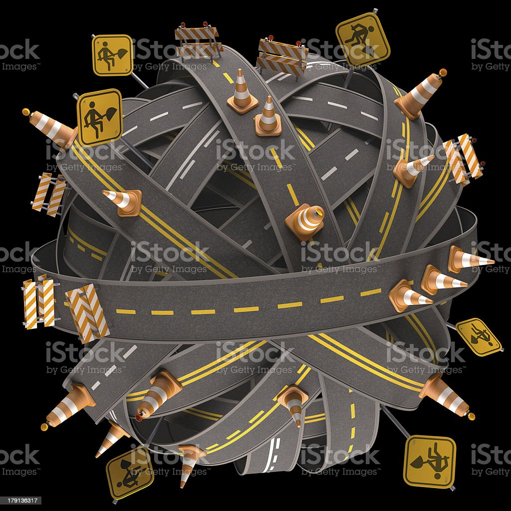 World Road Sign royalty-free stock photo