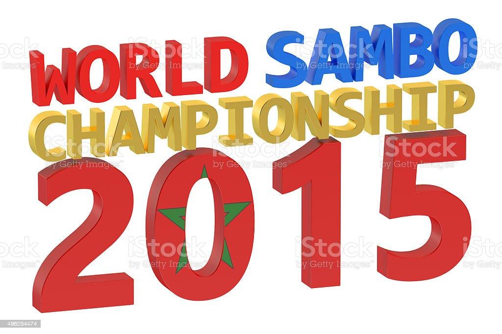 World Sambo Championship 2015 concept stock photo