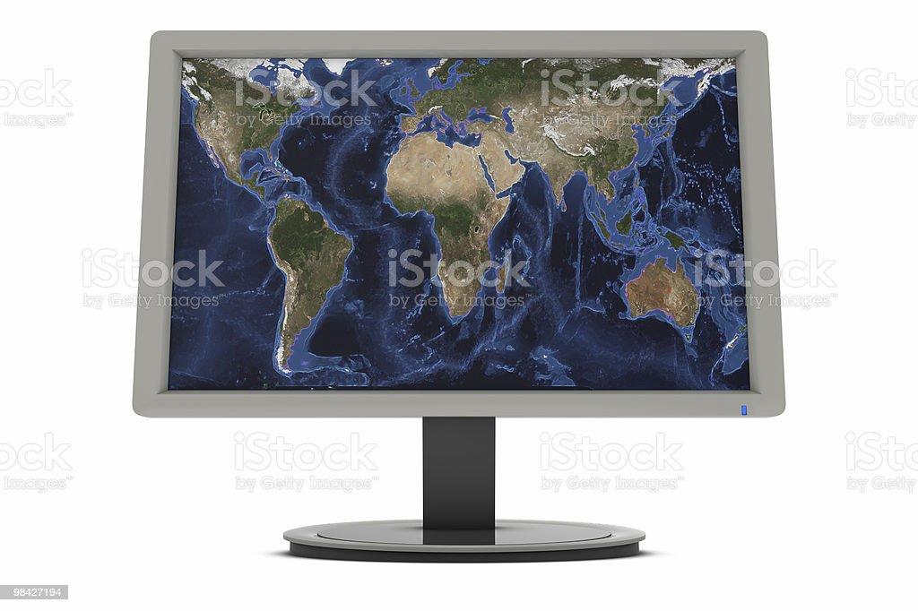 Mondo schermo foto stock royalty-free