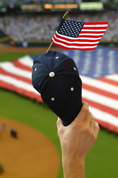 world series patriotism - national anthem stock photos and pictures