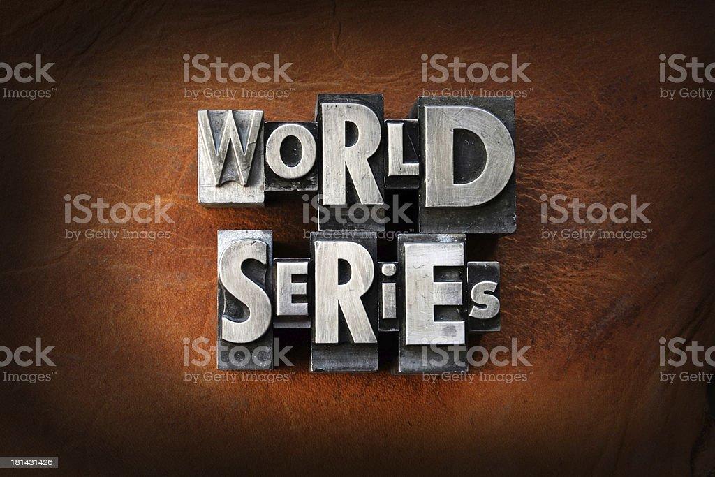 World Series stock photo