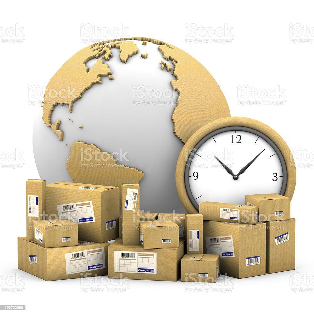 World shipments stock photo