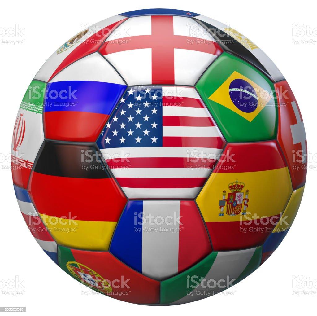 World Soccer USA stock photo