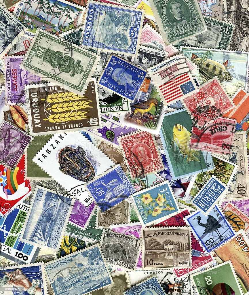 World Stamps royalty-free stock photo