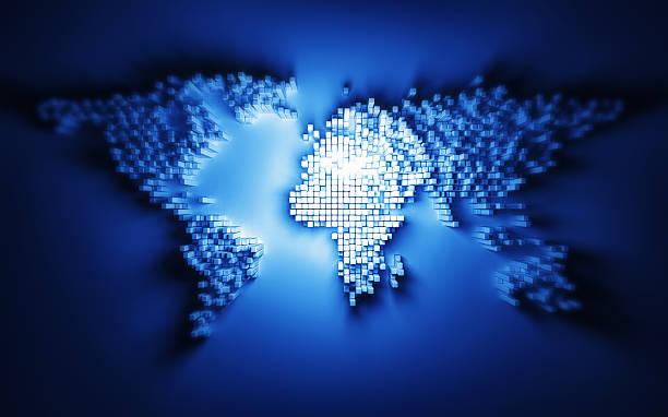 World Statistics map stock photo