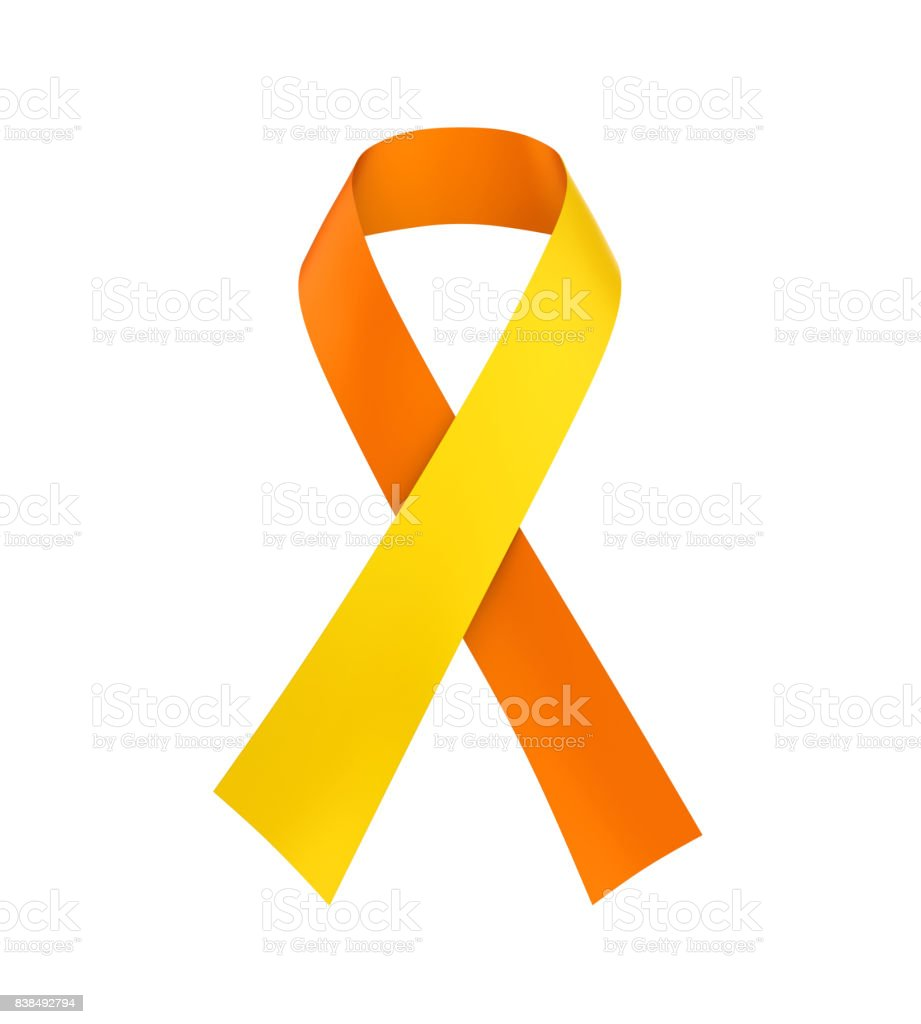 World Suicide Prevention Day Ribbon Isolated stock photo