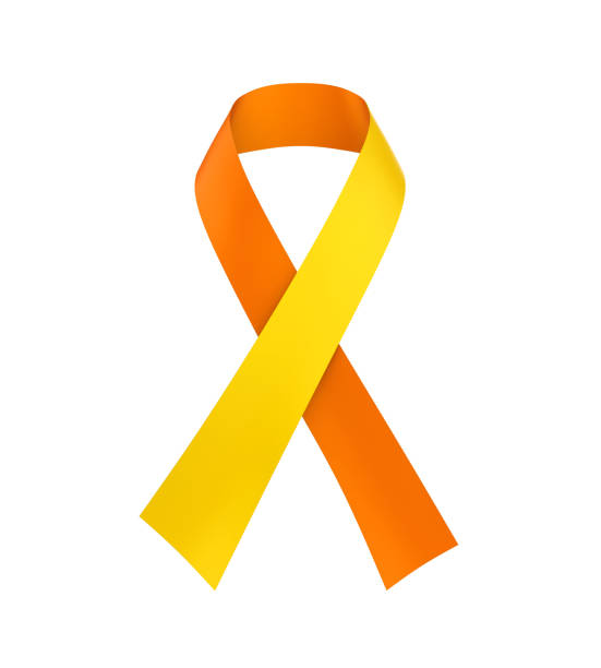 world suicide prevention day ribbon isolated - september stock photos and pictures