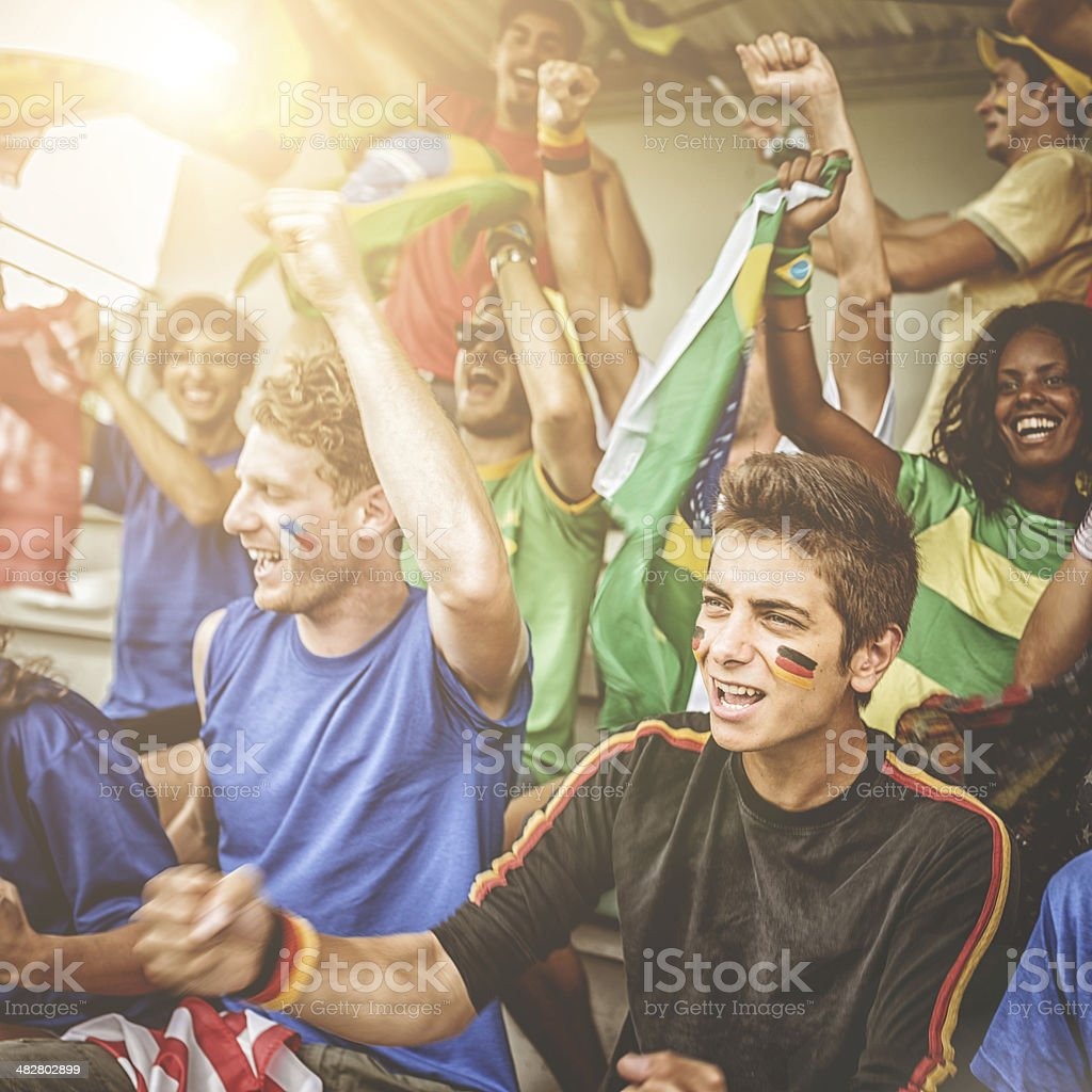 world supporter at the soccer stadium royalty-free stock photo