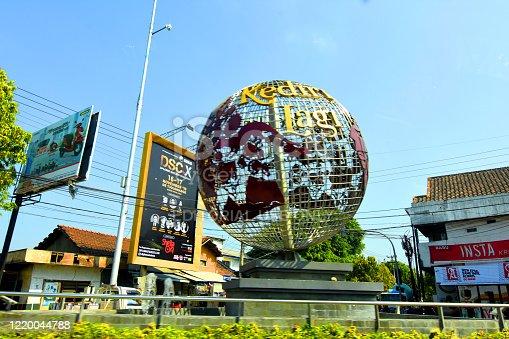 610119450 istock photo World symbol on the street 1220044788