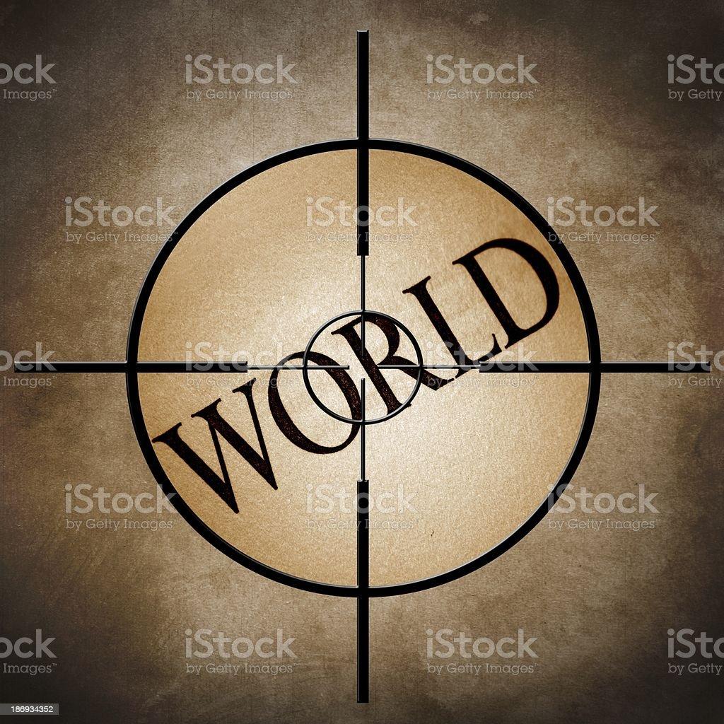 World target royalty-free stock photo