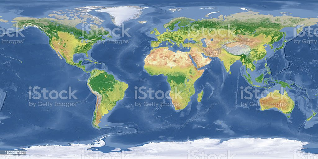 Topographic Map Asia.World Topographic Map Stock Photo More Pictures Of Abstract Istock