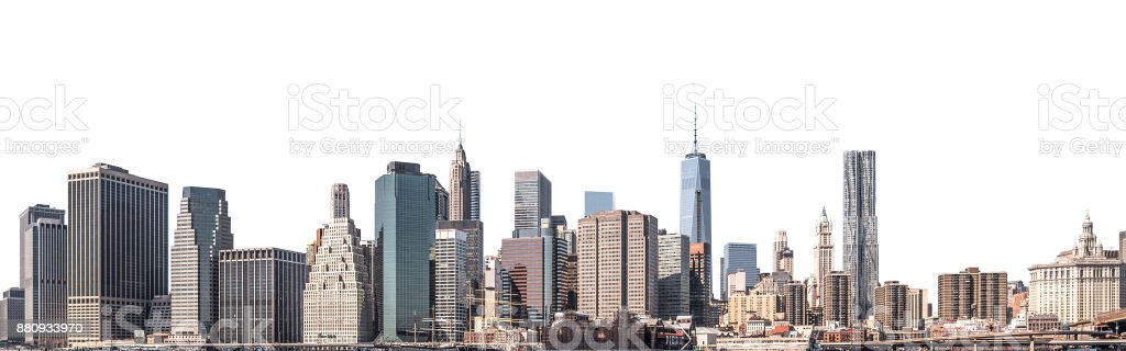 World Trade Center and skyscraper in Lower Manhattan, New York City, isolated stock photo