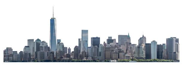 World Trade Center and skyscraper in Lower Manhattan, New York City, isolated stock photo