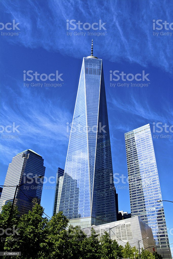 One 7 World Trade Center Cityscape Lower Manhattan Nyc Stock