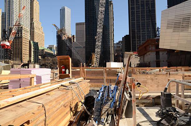 World Trade Center Construction Site stock photo