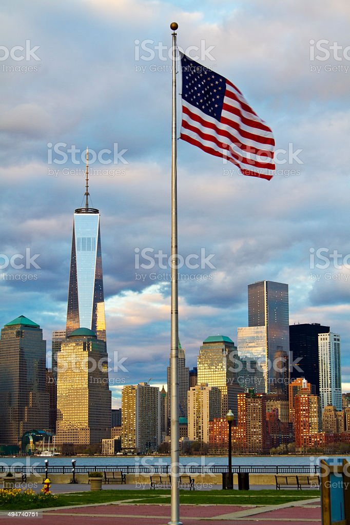 World Trade Center Freedom Tower in New York City stock photo