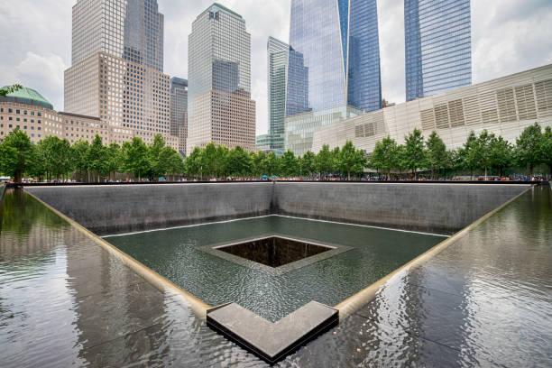 world trade center ground zero memorial - one animal stock photos and pictures