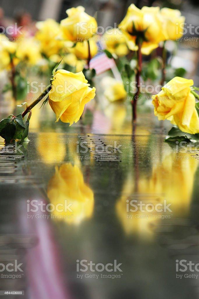 World Trade Center Memorial Flowers stock photo