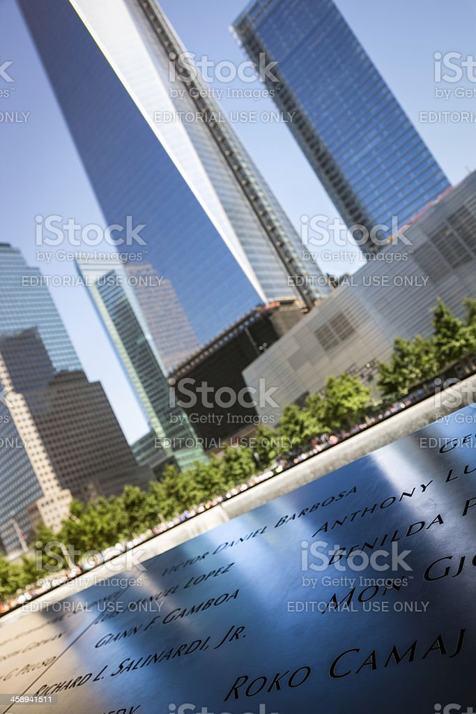 World Trade Center Memorial in New York City, Usa royalty-free stock photo