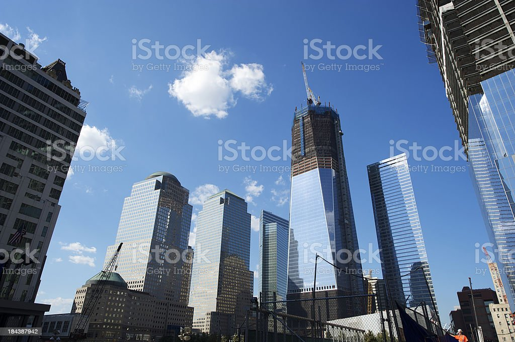 World Trade Center Office Tower Complex Skyscrapers Under Construction royalty-free stock photo
