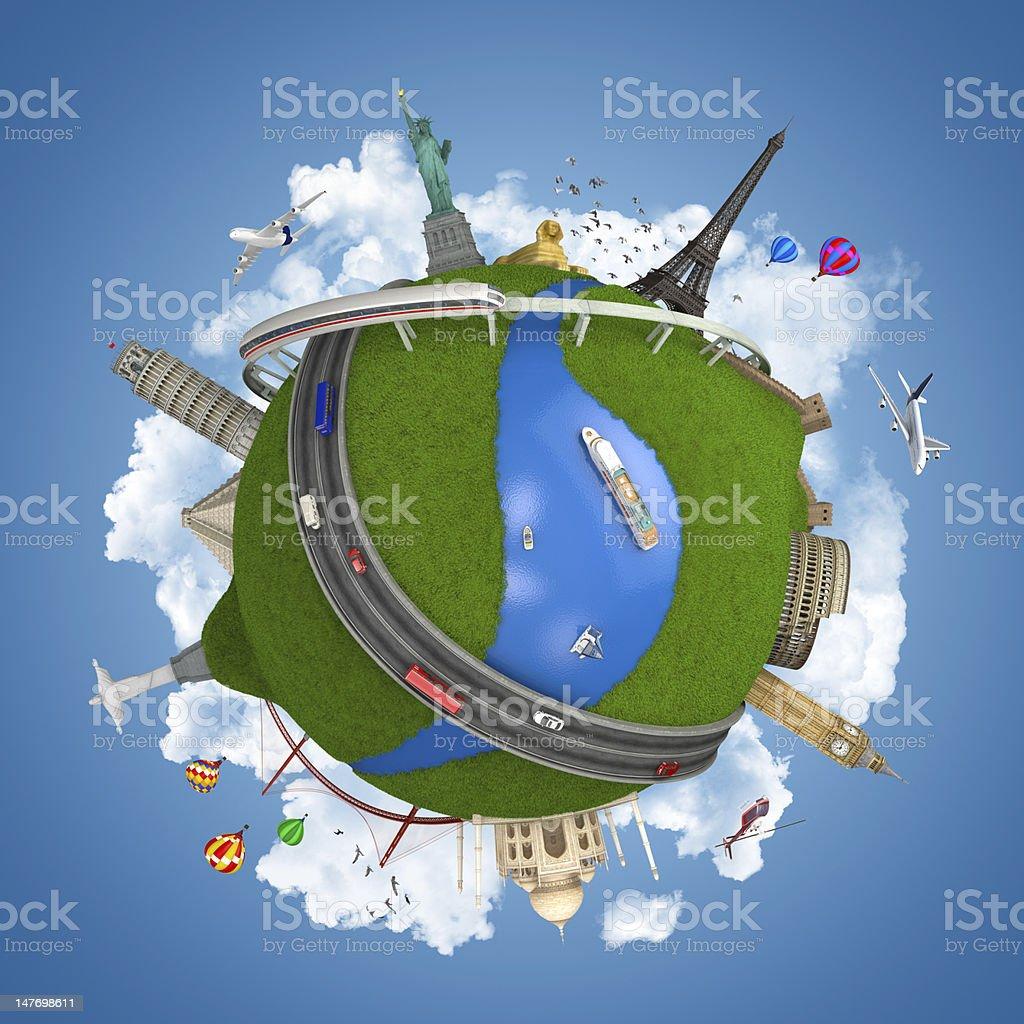 world travel globe concept isolated stock photo