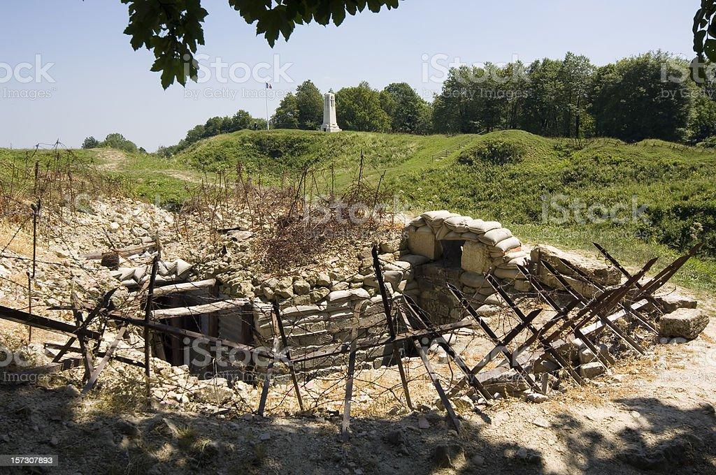 Wojny światowej 1 Rów pod Verdun – zdjęcie
