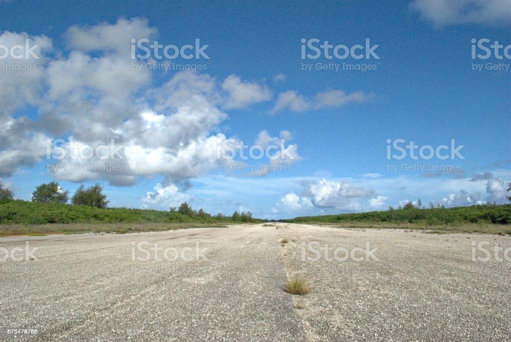 Guerre mondiale 11 piste mesure aérodrome, Tinian, Northern Mariana Islands photo libre de droits