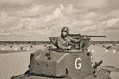 istock World War 2 Armored Tank on Beach 598085662