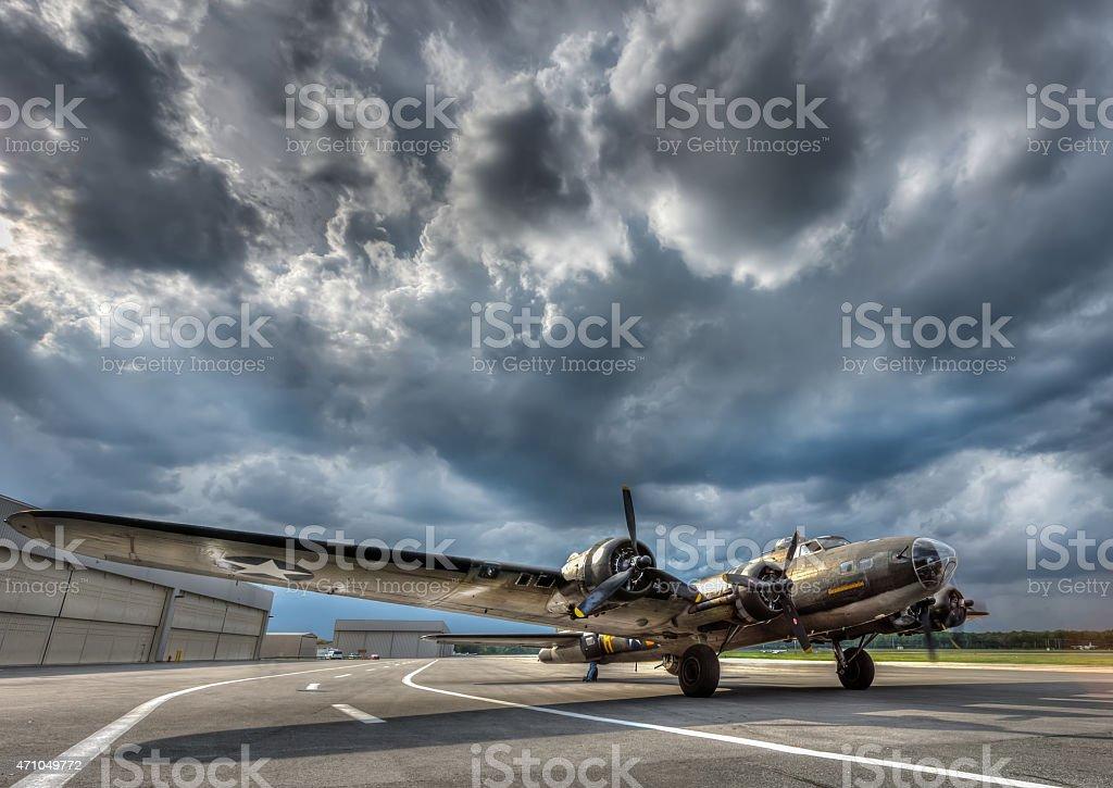 Guerra mondiale 2 B-17 Bomber - foto stock
